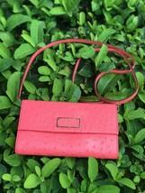 Kate Spade Wellesley Natalie Peony Leather Crossbody Bag Purse Clutch - $67.99