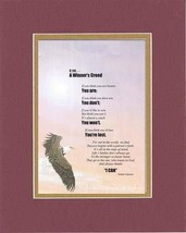 Touching and Heartfelt Poem for Motivations - A Winner's Creed Poem on 11 x 14 i - $15.79