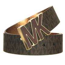 Michael Kors Women's Premium MK Logo Signature Plaque Faux Leather Belt 553504 image 6