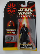 1998 Star Wars Episode I  Darth Maul W/Lightsaber Commtech Chip Action F... - $12.00