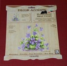 """Loew Cornell Water Release Decal Full Color 7"""" x 8"""" VIOLETS Flowers Art - $5.82"""