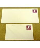 USPS Scott U556 1 7/10 Cent Envelope Liberty Bell Lot of 2 Purple - $4.32