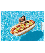Realistic Water Swimming Pool Jumbo Hot Dog Mat Inflatable Lounge Float ... - $24.00