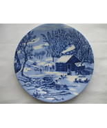 The Homestead In Winter Collector Plate Feeding The chickens 8 Inch In D... - $12.86