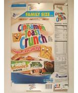 MT Cereal Box CINNAMON TOAST CRUNCH 2016 20.25oz NINJA TURTLES [G7D5e] - $12.76