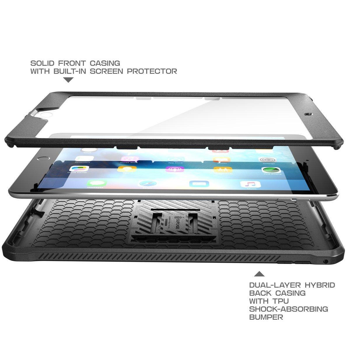 SUPCASE iPadCase 9.7inch 2017/2018 [UnicornBeetlePROSeries](Black) image 4