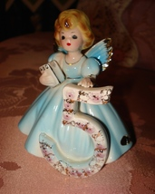 Vintage Josef Originals Blue Angel Figurine 5 Years Old w/ Label Sticker - $12.95