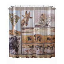 180cm * 180cm 3D Waterproof Wildlife Animal World Shower Curtain Bathroom Produc - $25.97