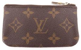 Authentic LOUIS VUITTON Monogram Canvas Pochette Cles Coin Case M62650 S... - $120.00