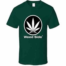 Tremendous Designs Weed Side Brand T Shirt L Forest Green - $19.59