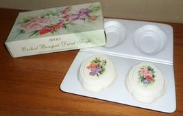 Vintage Avon ORCHID BOUQUET 2 Decal SOAPS with Original BOX - $20.00