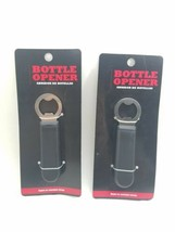 (Lot of 2) Backyard Grill Bottle Opener w/ Magnet For Easy Storage. Blac... - $8.02