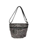 Rosetti Leopard Print Peppa Convertible Bag Purse Black W Silver Accents... - $49.49