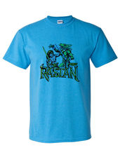 Rastan t shirt retro 1980 s arcade video game vintage heather blue graphic tee thumb200