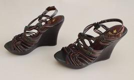 Braided Knots Olive ANTHROPOLOGIE FARYLROBIN Brown Faryl Wedge Strappy Size 9 SZ0ndZz
