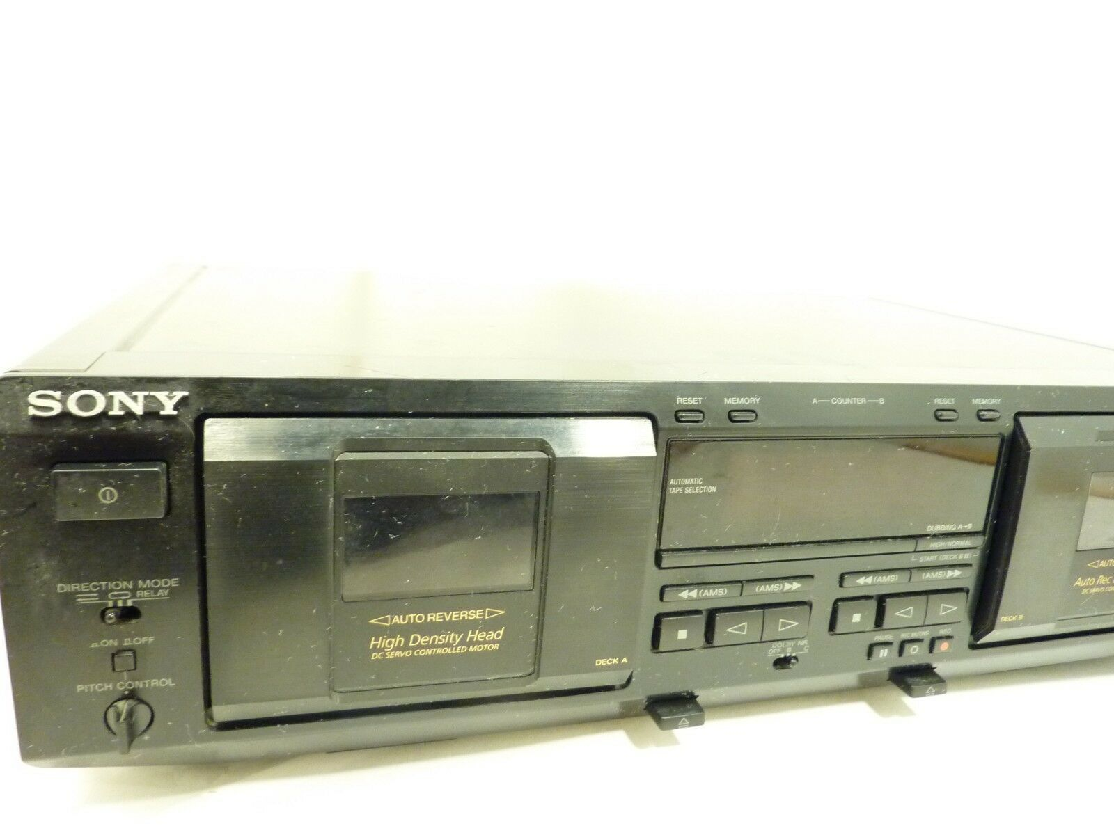 Sony TC WE435 Dual Stereo Cassette Deck Tape Player