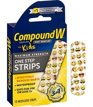 Compound W One Step Medicated Strips For Kids   Wart Removal   10 Strips image 1