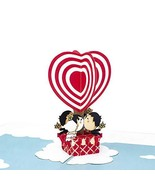 Paper Love Hot Air Balloon Love Pop Up Card, 3D Popup Greeting Cards, Fo... - $10.38