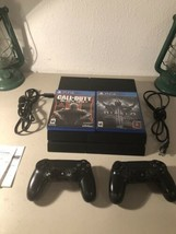 Sony PlayStation 4 500GB Console Black Model CUH-1215A PS4 Bundle with 2... - $237.55