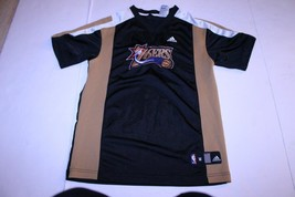 Youth Philadelphia 76ers M (10/12) Vintage Warmup Jersey (Black) Adidas ... - $18.69