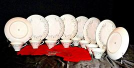 """G"" Plates Japan Fine China Dishes and teacups with Napkins AA20-2344 Vintage image 3"
