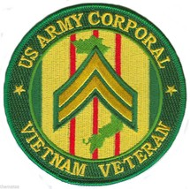 """ARMY CORPORAL  VIETNAM VETERAN 4"""" EMBROIDERED MILITARY PATCH - $18.04"""