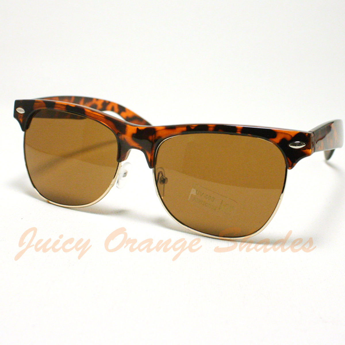 Unisex 50's Truly Vintage Fashion Back in Style Horn Rim Sunglasses TORTOISE