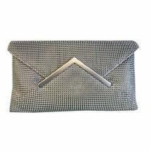 Sondra Roberts Silver Metal Mesh Envelope Clutch - $209.87 CAD