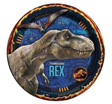 Jurassic World Tyrannosaurus Rex Lunch Plates 8 Ct Birthday Party Supplies New - $4.21