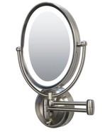 Zadro LEDOVLW410 LED Lighted 10X-1X Oval Wall Mounted Makeup Mirror - $128.69