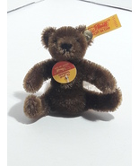 Vintage Steiff Original Brown Teddy Bear Mini Mohair #0206/11 - $52.49