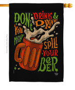 Don't Drink Beer - Impressions Decorative House Flag H192300-BO - $36.97