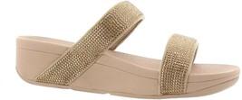 FitFlop Lottie Shimmer Crystal Slide Sandal GOLD 6 NEW 674-157 - $81.16