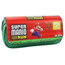 Super Mario Pencil Case Pen Bag Kid School Red - $17.99