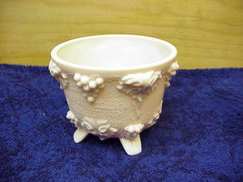 Pink Milk Glass Candy Jar Jeannette Glass Footed Candy Dish - $5.00
