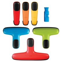 OXO SoftWorks 7 Piece Clip Set, Assorted Colors, Soft Non Slip  - $11.50