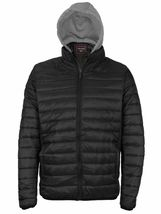 Maximos Men's Slim Fit Lightweight Zip Insulated Packable Puffer Hooded Jacket image 11
