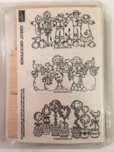 Great Groupings Stampin Up Rubber Stamps Unused Unmounted Snowmen Scarec... - $13.22