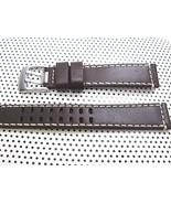 ARCADIA 18mm Italian Genuine Leather Watch Band Strap-Calf khaki & seama... - $25.71