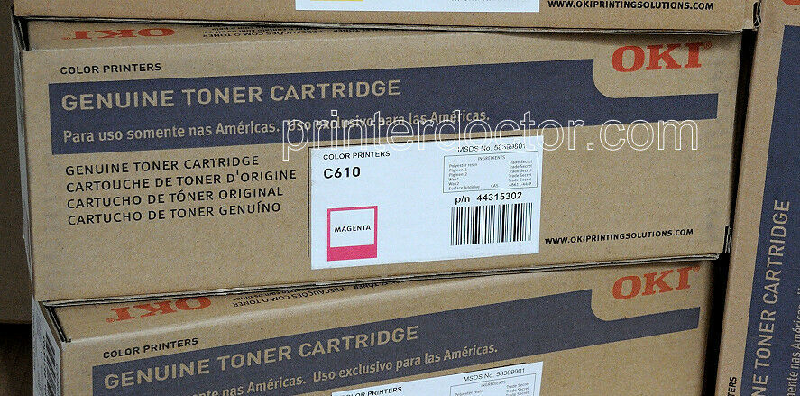 Primary image for Genuine Okidata printer 44315302 Toner c610, c610n, c610dn OEM