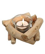 Sziqiqi Lovely Handmade Wooden Tealight Candle Holder for Gifts Crafts O... - $9.85