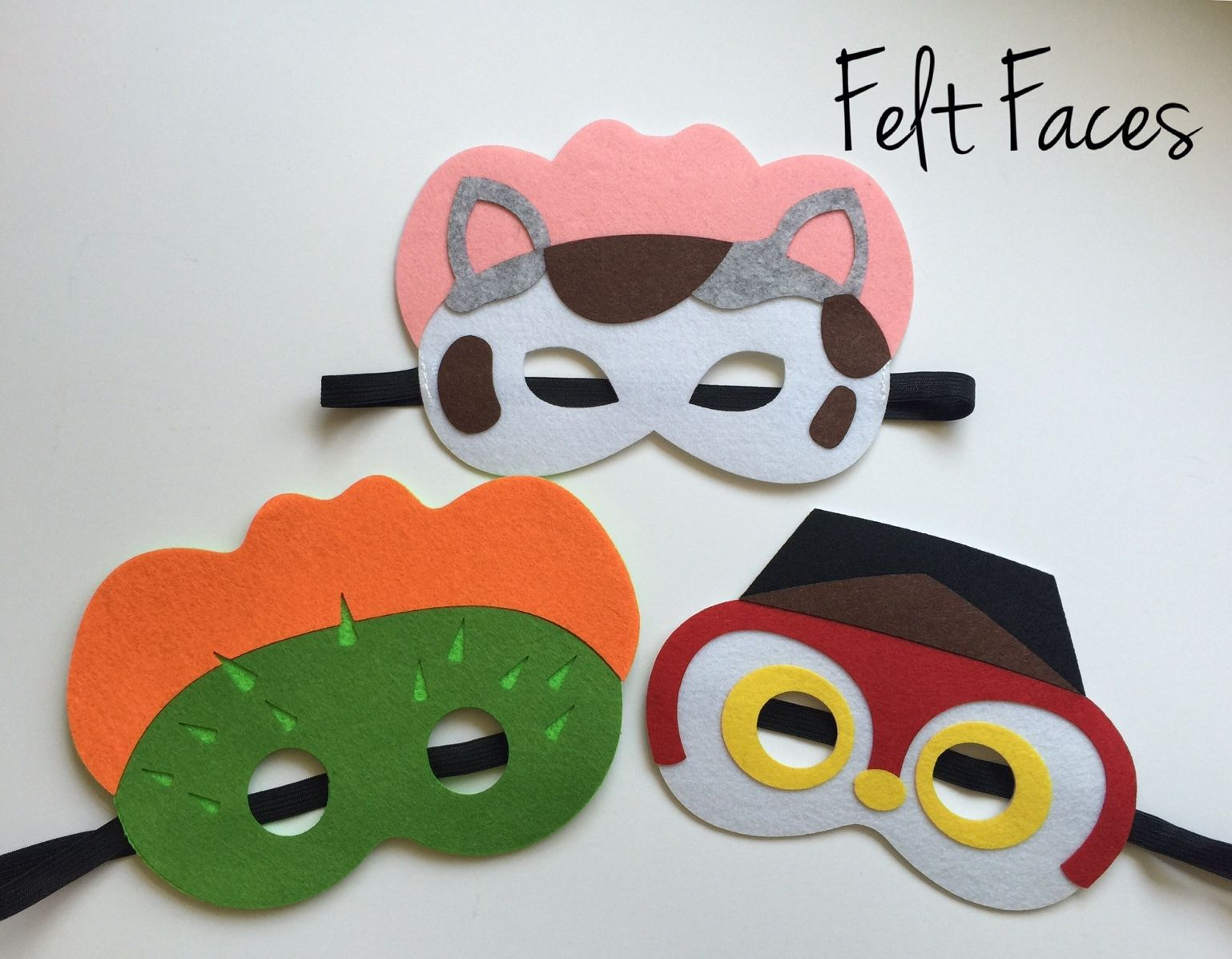 3 Sheriff Callie Mask Birthday Party Favor And Similar Items