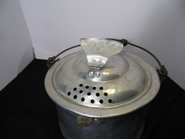 Vintage Aluminum Pot Camping, With Steamer  Strainer Latch Paramount - $42.56