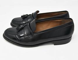 Bostonian Florentine Mens 11M Black Leather Upper Slip On Tassle Loafers Italy - $24.95