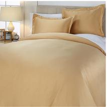 Concierge Collection Matte Satin 3-piece Duvet Set, Gold, Size Full/Queen - $27.71