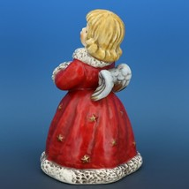 Red Angel Christmas Choir Bell Figurine c.1979 Goebel W. Germany image 2