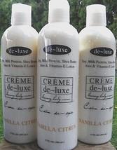 De~luxe VANILLA CITRUS BODY CREME Soy Milk Shea Aloe Vitamin E (3) 17oz/... - $38.46