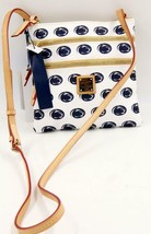 Dooney & Bourke Penn State University Triple Zipper White/Blu Messenger Bag - $80.74