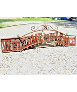 Metal Welcome to the RANCH Sign Wall Entry Gate 44 3/4 inch bz - $124.98