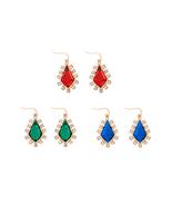 3 Colors Red/Green/Blue Resin Geometric Earrings Female aliexpress India... - $7.29
